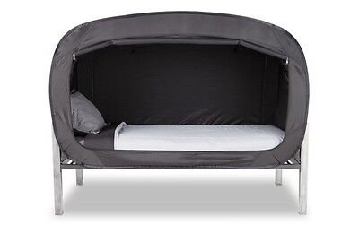 Privacy Pop Up Bed Tent Black (Full Bunk)