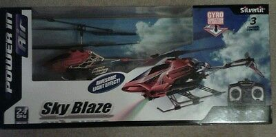 Silverlit Sky Blaze 3-Channel Radio Control Gyro Helicopter & Special Effects