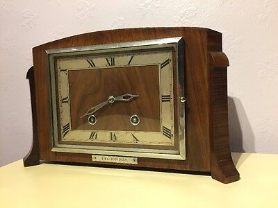 Antique wooden clock vintage for spares repairs Romford (E)