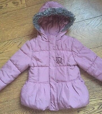 Hrd25) Girls Tesco Padded Coat AGE 4-5 Years Excellent Condition