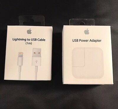 OEM Genuine Apple Ipad air 2 3 4 Ipad Air 12W Adapter Wall Charger + USB Cable