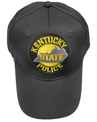 Kentucky State Police Patch Snap Back Ball Cap / Hat - BLACK - OSFA - New