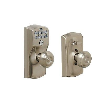 Schlage FE595 CAM 619 GEO Camelot Keypad Entry with Flex-Lock and Georgian St...