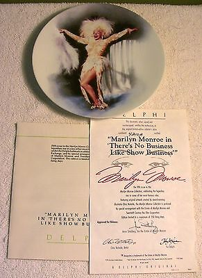 """8.5"""" Marilyn Monroe No Business Like Show Business Collectors Plate Bradford"""
