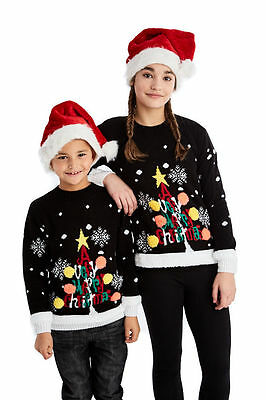 2017 Kids 3D Novelty Christmas Tree Jumper Boys Girls Crew Neck Xmas Sweater