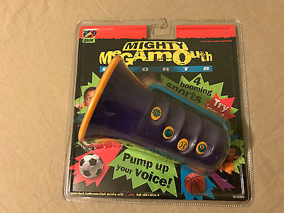 Brand New Mighty Megamouth Sports Sound FX Megaphone YES Gear 1998 850074!