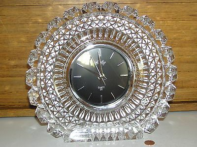 Hoya Crystal Lofty Quartz Clock For Mantle Desk Shelf Wall Table