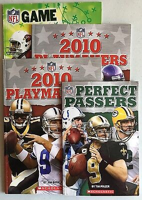Lot of 4 Children's Books NFL Themed- Playmakers, Game Breakers, Perfect Passers