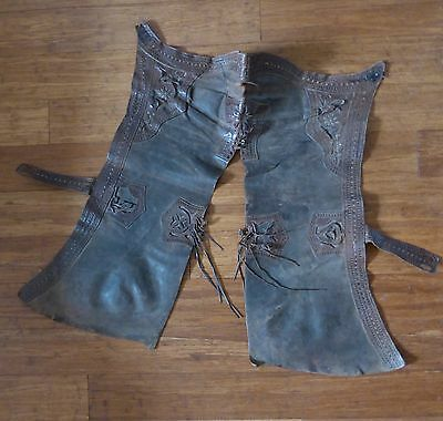 Antique Cow Boy Leather Chaps