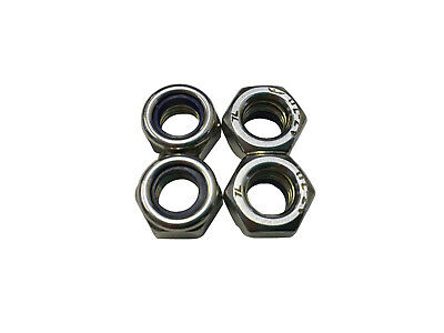 Metric Lock Nuts for Motorcycles Scooters General Hardware (4 pieces)