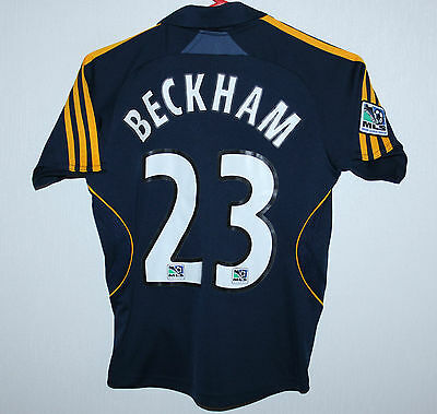 Los Angeles Galaxy LA USA MLS away shirt 08/09 #23 Beckham Adidas Kids Size XS