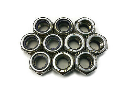Standard Lock Nuts for Motorcycles Scooters General Hardware (10 pieces)