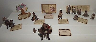 Sarah's Attic Limited Edition Figurines& Wooded Pieces Lot of 13 Mint!