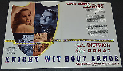 KNIGHT WITHOUT ARMOR 1937 ORIGINAL 12x18 MOVIE TRADE AD! MARLENE DIETRICH!