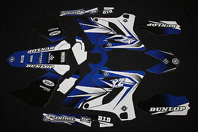 Yamaha Yz 125-250 2015-2016  Pts Two Flu Mx Graphics Decals Kit Stickers