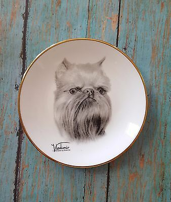 BRUSSELS GRIFFON Mini Collector Plate / Dog Swag  Gift Vladimir Tzenov