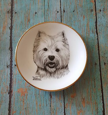 Westies West Highland White Terrier Mini Collector Plate X-mas Gift Rosalinde
