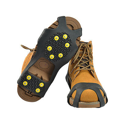 US Snow Ice Cleats Anti-Slip Shoes Covers Studded Boot Traction Spike Crampons