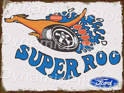 30x40cm Ford Super Roo Rustic Tin Sign