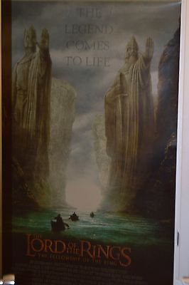 #2593 LOTR Theater Poster - Fellowship of the Ring- 47x70 Laminated-Double sided