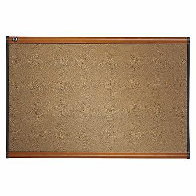 Quartet Prestige Colored Cork Bulletin Board Light Cherry Finish Frame 6 x 4 ...