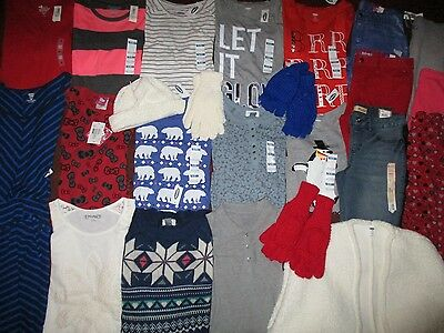 Girls Size 14  Winter School Lot Clothes & Outfits Old Navy Hello Kitty NWT'S
