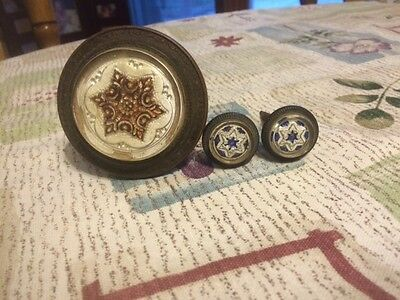 Victorian Curtain Tiebacks With 6 Pointed Stars. Rare