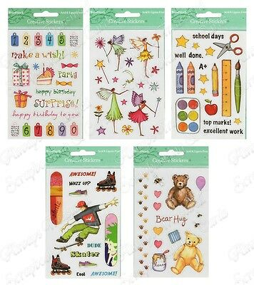 Creative Stickers Small ~ 5 x Design Options ~ Scrapbooking Craft Card Making