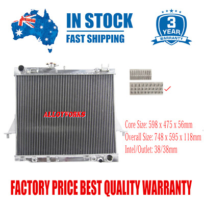 3Row Aluminium Radiator For Holden Rodeo RA 3.5L 3.0TD 2003-2007 Auto And Manual