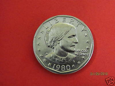 1980-D  BU Mint State ( Susan B Anthony) US One Dollar Coin