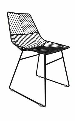 NEW Sive Indoor Wire Bend NET Chair Cafe Seat Dining Replica Black