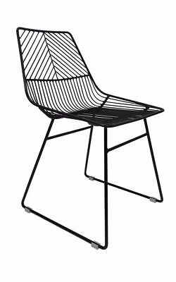 Sive Indoor Wire Bend NET Chair Cafe Seat Dining Replica Black