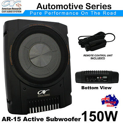 AMERICAN RESEARCH AR-15 Car Underseat Compact ACTIVE SUBWOOFER 150WATTS