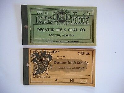 ** Rare Vintage Decatur Alabama Ice & Coal Co. Coupon Ticket Books **