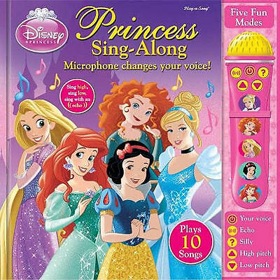 Disney Princess Sing Along Book With Voice Changing Microphone