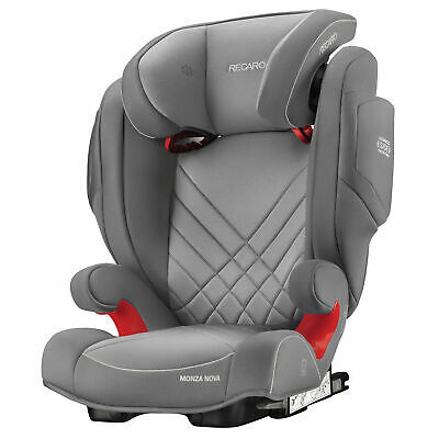 Recaro Monza Nova 2 Seatfix (Isofix) Childs Car Seat - 3-12 Yrs, Aluminium Grey