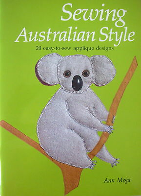 Craft Book - SEWING AUSTRALIAN STYLE - 20 easy-to-sew appliqué designs - LikeNew