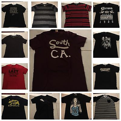A Lot Of 13 Pre Owned Men's XL Shirts Various Brands