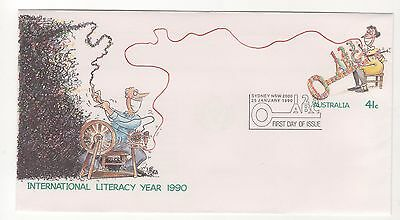 1990 Australia Post INTERNATIONAL LITERACY YEAR pre paid envelope PPE 26/1/1990