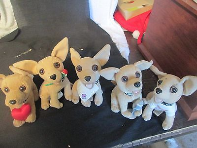 Mixed Lot of 5 Taco Bell Chihuahuas Plush Stuffed Dogs  #2