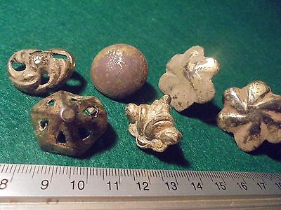 Superb of 6 Roman armor bronze decorations, with Golden bath