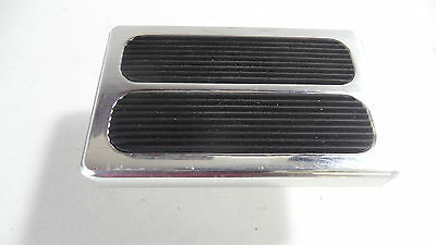 Hot Rod Brake Pedal Or Clutch Pad Billet Alloy With Rubber Inserts - Ford Chev
