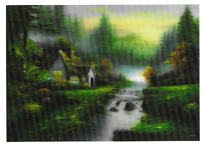 idyllic scenery  3D Lenticular raster Holographic Stereoscopic Picture Wall Art