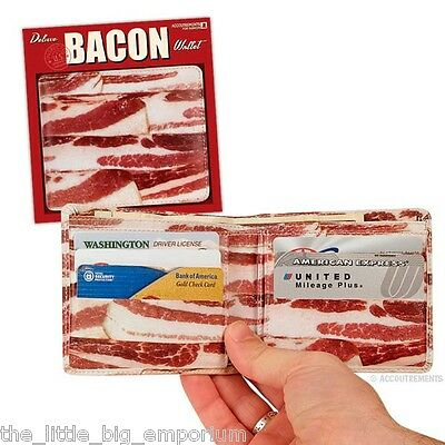 Bacon Wallet By Archie McPhee, Faux Leather Mens Wallet - Fun Novelty Gift