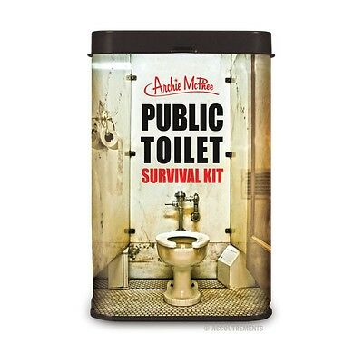 Public Toilet Survival Kit - In Metal Gift Tin
