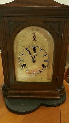 Mantel clock  in wood with chime