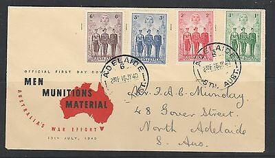 Australia Armed Forces FDC set of 4 stamps addressed 1940