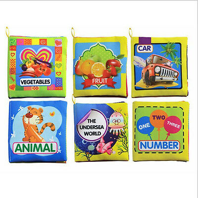 Clever Kids Baby Intelligence development Cloth Bed Cognize Book Educational Toy