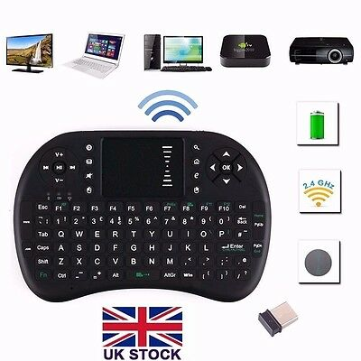 2.4G Wireless QWERTY Keyboard Keypad Mouse TouchPad for Android TV Box XBMC PC