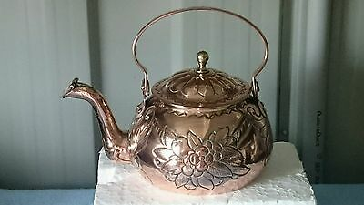 Antique Copper Kettle. Exquisite & Rare. Heavy Weight.  One Of A Kind. Standout!